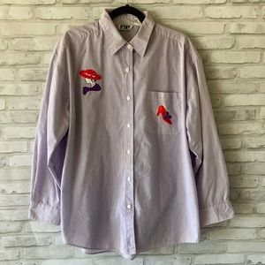 PTNY Red Hat Lady long Sleeve Button Shirt Size XL